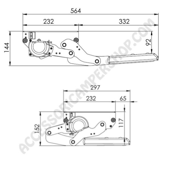 Schema Elettrico Gradino Camper : Gradino elettrico singolo con movimento basculante serie