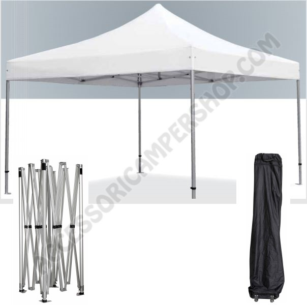 Gazebo professionale pyramid 4x4 mt bianco in alluminio for Gazebox prezzo