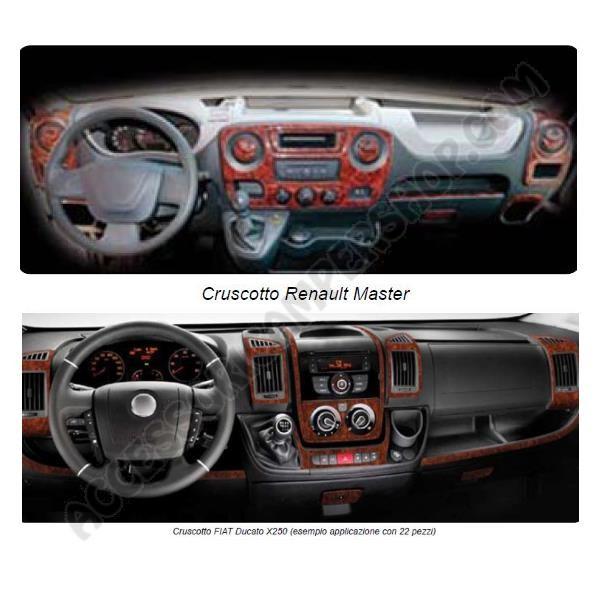 Kit adesivo rivestimento cruscotto cabina camper furgone for Kit trasformazione furgone in camper