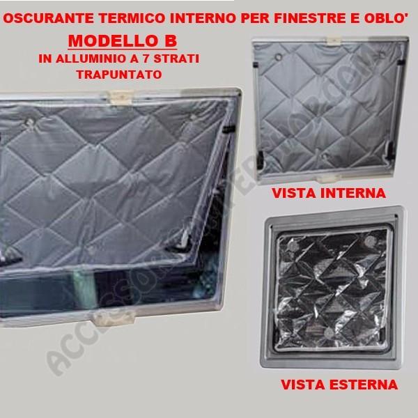 Oscurante termico interno per finestra e obl per camper - Aeratore termico per finestra ...