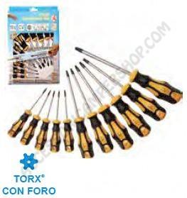 SET 11 CACCIAVITI TORX CON FORO