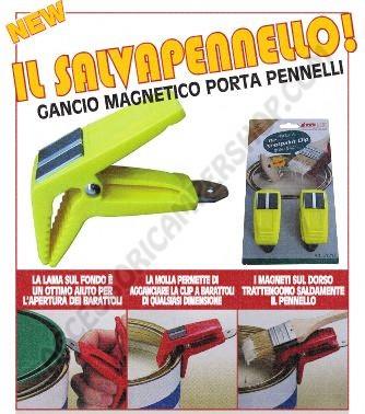 GANCIO MAGNETICO PORTA PENNELLI BLISTER CONFEZIONE 2 PEZZI