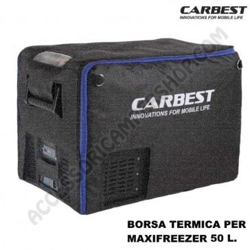 BORSA TERMICA PER FRIGO-FREEZER PORTATILE CARBEST MAXIFREZZER 50L A COMPRESSORE