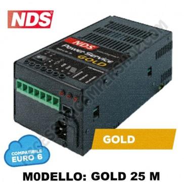POWER SERVICE GOLD 25 M NDS CARICA BATTERIA ELETTRONICO TRE ALIMENTAZIONI