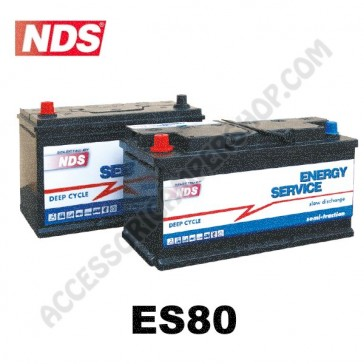 BATTERIA DI SERVIZIO NDS ES80 ENERGYSERVICE 12V 80Ah PER CAMPER