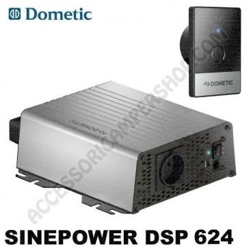INVERTER AD SINUSOIDALE PURA 600 W 24V - 230 V DOMETIC SINEPOWER DSP 624 PER CAMPER CARAVAN BARCA