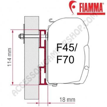 ADAPTER D OPTIONAL PER TENDALINI FIAMMA F45 + F70 ADATTATORE STAFFA DA 8 CM PER CAMPER E CARAVAN