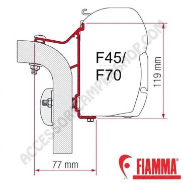 ADAPTER HYMER VAN - B2 450 OPTIONAL PER TENDALINI FIAMMA F45 + F70 ADATTATORE STAFFA DA 450 CM PER CAMPER