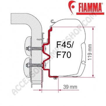 ADAPTER HYMERCAMP 450 OPTIONAL PER TENDALINI FIAMMA F45 + F70 ADATTATORE STAFFA DA 450 CM PER CAMPER