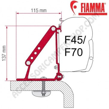 KIT ROOF ADAPTER OPTIONAL PER TENDALINI FIAMMA F45 + F70 ADATTATORE STAFFA PER CAMPER