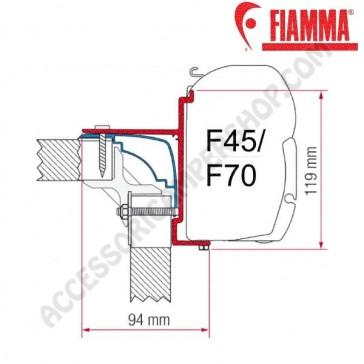 ADAPTER LAIKA ECOVIP OPTIONAL PER TENDALINI FIAMMA F45 + F70 ADATTATORE STAFFA PER CAMPER
