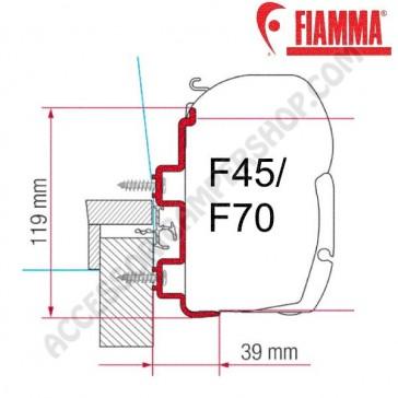 ADAPTER HYMER EXSIS OPTIONAL PER TENDALINI FIAMMA F45 + F70 ADATTATORE STAFFA PER CAMPER