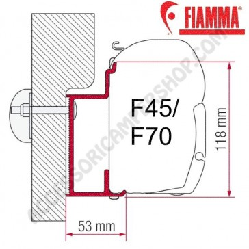 ADAPTER EURA MOBIL KARMANN OPTIONAL PER TENDALINI FIAMMA F45 + F70 ADATTATORE STAFFA DA 400 CM PER CAMPER