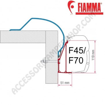 ADAPTER ARCA OPTIONAL PER TENDALINI FIAMMA F45 + F70 ADATTATORE STAFFA PER CAMPER