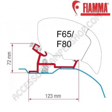 KIT FIAT DUCATO - CITROEN JUMPER - PEUGEOT BOXER - H2 L4 > 2006 OPTIONAL PER TENDALINI FIAMMA F65 e F80 ADATTATORE STAFFE PER FURGONATI