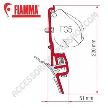 98655Z011 KIT BRANDRUP VW T4 ADATTATORI STAFFE PER TENDALINO FIAMMA F35 RICAMBIO ORIGINALE FIAMMA