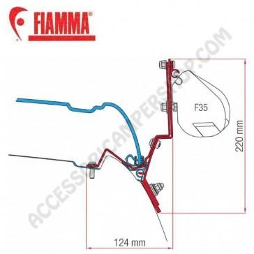98655Z022 KIT CLASSE V MARCO POLO DAL 2014 ADATTATORI STAFFE PER TENDALINO FIAMMA F35 RICAMBIO ORIGINALE FIAMMA