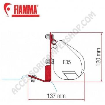 98655z024 KIT FORD CUSTOM F35 ADATTATORI STAFFE PER TENDALINO FIAMMA F35 RICAMBIO ORIGINALE FIAMMA