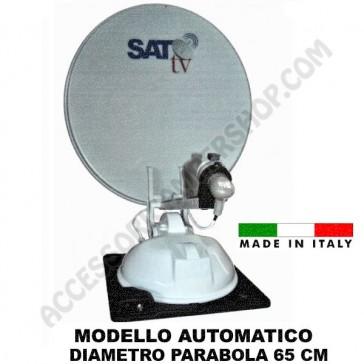 ANTENNA SATELLITARE AUTOMATICA  SAT TV 65 PER CAMPER MOTORHOME VAN CARAVAN ROULOTTE
