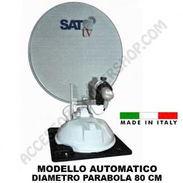 ANTENNA SATELLITARE AUTOMATICA  SAT TV 80 PER CAMPER MOTORHOME CARAVAN ROULOTTE