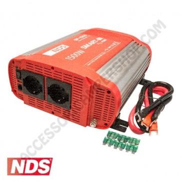 INVERTER NDS SMART-IN SP-1500 1500 W 24V A ONDA SINUSOIDALE PURA CON PRESA USB PER CAMPER CARAVAN BARCA