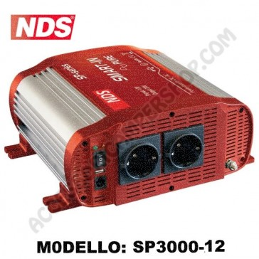 NVERTER NDS SMART-IN SP-3000-12 12V-3000W A ONDA SINUSOIDALE PURA CON PRESA USB PER CAMPER CARAVAN BARCA
