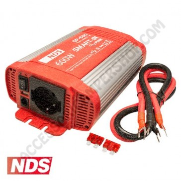INVERTER NDS SMART-IN SP-600 600 W 12V A ONDA SINUSOIDALE PURA CON PRESA USB PER CAMPER CARAVAN BARCA