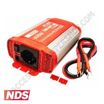 INVERTER NDS SMART-IN SP-600 600 W 24V A ONDA SINUSOIDALE PURA CON PRESA USB PER CAMPER CARAVAN BARCA