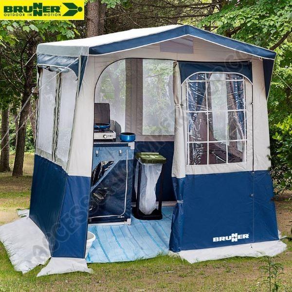 Cucinotto Tenda Cucina Bravo Blu 220x160 Cm Brunner Per Campeggio