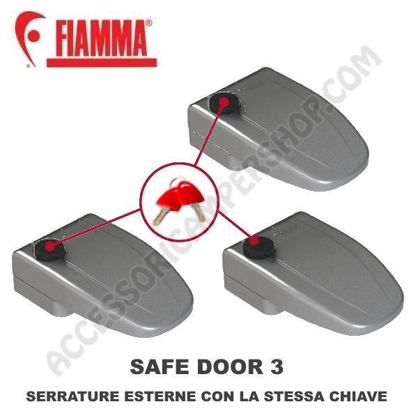 93577 Safe Door 3 Fiamma Chiusure di sicurezza porta  gavoni Camper Chiave  CASG