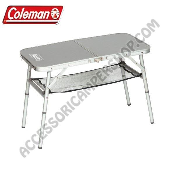 Tavolo Da Campeggio Richiudibile.Tavolino Pieghevole Mini Camp 2 Coleman In Alluminio Da Campeggio