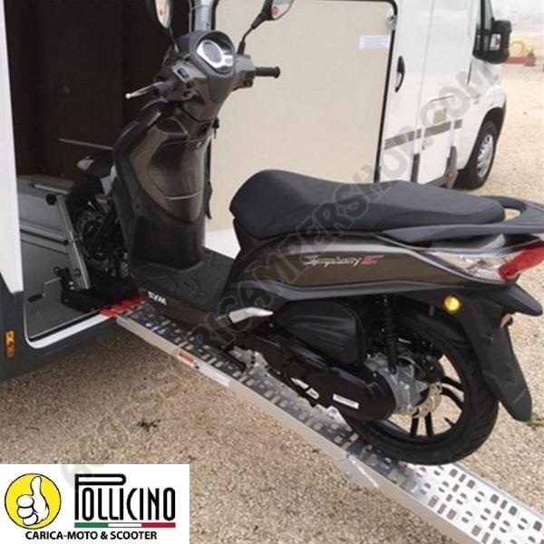 Portamoto pollicino carica moto e scooter per garage for Garage moto scooter