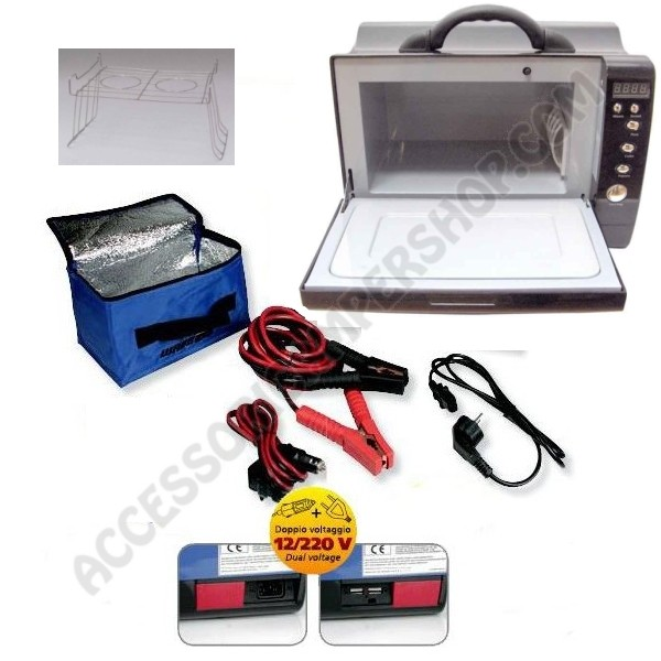 Forno microonde portatile wavebox camp4 12 230v da viaggio - Mobile porta forno microonde ...
