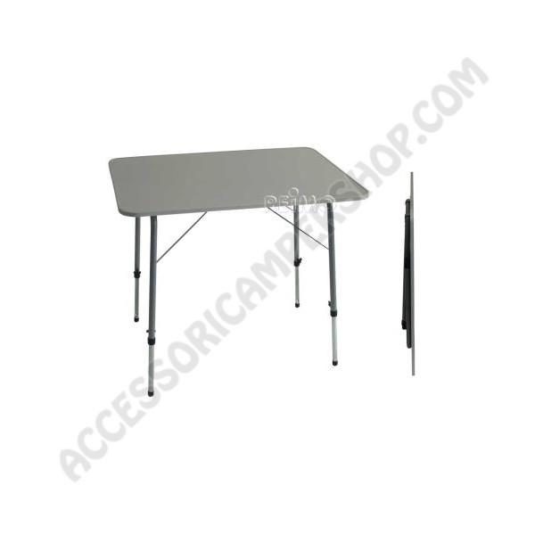 Tavolo pieghevole 80x60 in mdf regolabile in altezza da campeggio e camper - Tavoli da campeggio ikea ...