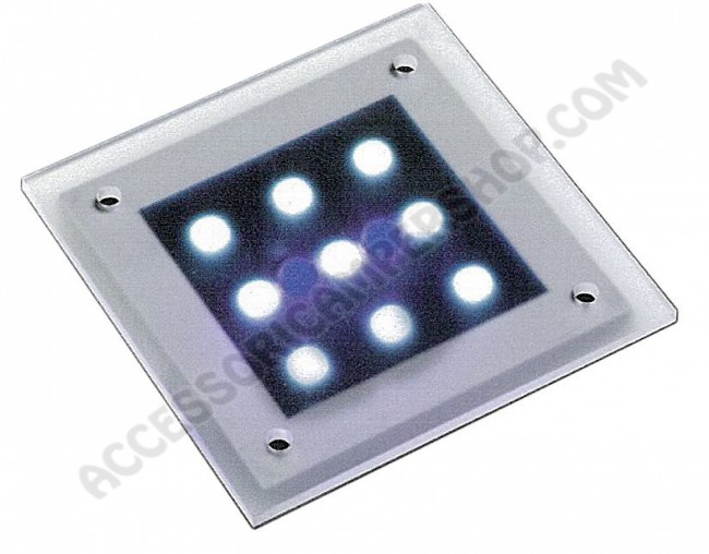 Plafoniere Con Spot : Plafoniera spot led fisso con base piana in policarbonato silver e