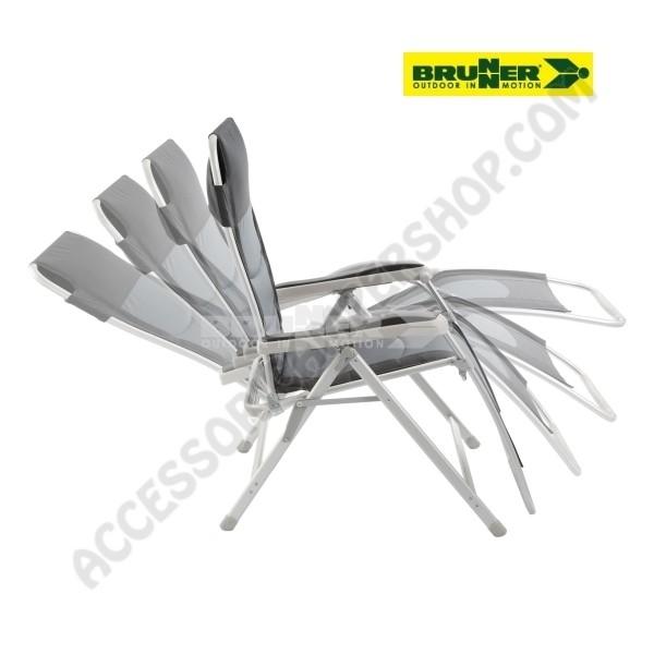 Sedia A Sdraio Alluminio.Poltrona Sedia Sdraio Campeggio Alluminio Reclinabile Brunner Kerry