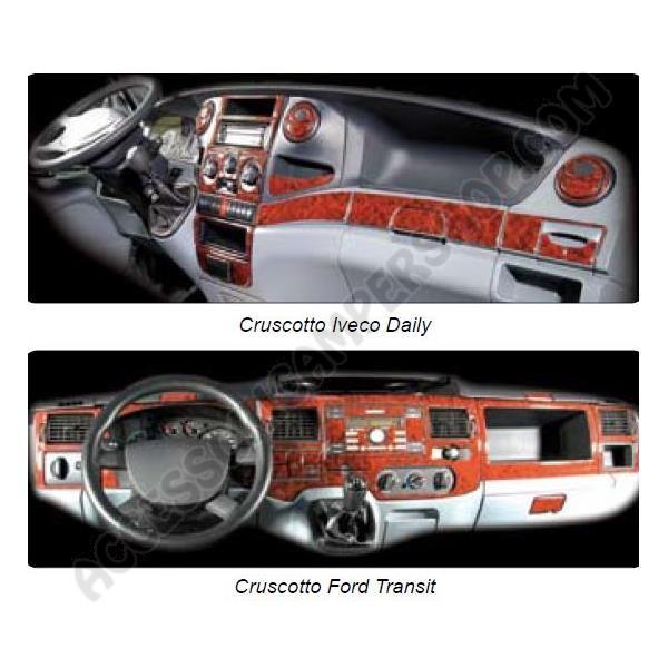 Kit adesivo rivestimento cruscotto cabina camper furgone for Kit di cabina e cottage