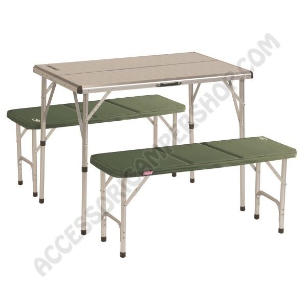Tavolo Da Campeggio Con Sedie.Tavolo Pieghevole Pack Away Per 4 Persone Coleman In Alluminio Da