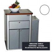 DISPENSA - CUCINA HOCHGLANZ BIANCO PER VWT5 / 6 MULTIVAN CALIFORNIA BEACH