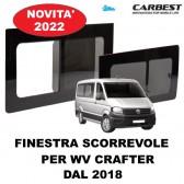 FINESTRA SCORREVOLE IN VETRO CARBEST PER VW CRAFTER DAL 2018