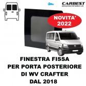 FINESTRA FISSA IN VETRO CARBEST PER PORTA POSTERIORE VW CRAFTER DAL 2018