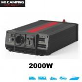 INVERTER MC CAMPING SI-2000 2000 W 12V A ONDA SINUSOIDALE PURA CON PRESA USB