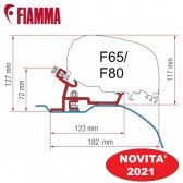 KIT DUCATO - CITROËN JUMPER - PEUGEOT BOXER - H2 DEEP BLACK OPTIONAL PER TENDALINI FIAMMA F65 e F80 ADATTATORE STAFFE