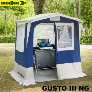 CUCINOTTO TENDA CUCINA GUSTO III NG BLU 200X200 CM BRUNNER PER CAMPEGGIO