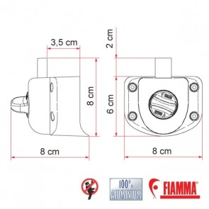 BLOCCO DI SICUREZZA FIAMMA  SAFE DOOR GUARDIAN TRANSIT DAL 2006 AL 2014 SERRATURA PER INTERNO PER CAMPER