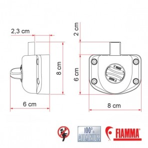 BLOCCO DI SICUREZZA FIAMMA  SAFE DOOR GUARDIAN T TRANSIT PRIMA 2006 PER CAMPER