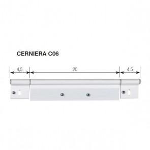 CERNIERA C06 PER PORTA 285X48 MM.
