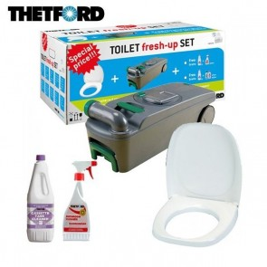 KIT TOILET FRESH-UP SET C400 CASSETTA-ACQUE-NERE PER CAMPER E CARAVAN