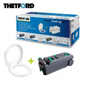 KIT TOILET FRESH-UP SET C500 CON MANIGLIA E ROTELLE PER TOILET C500 DI CAMPER E CARAVAN