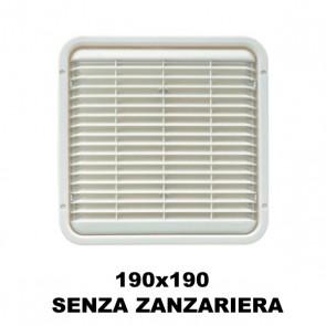 AREATORE DA APPOGGIO 190X190MM. SENZA ZANZARIERA PER CAMPER E CARAVAN